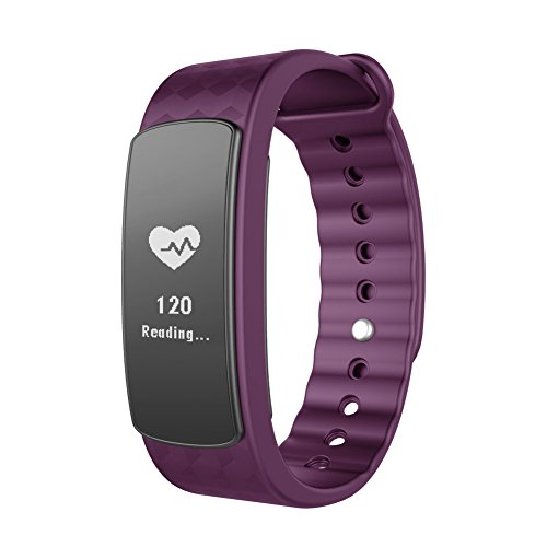 Lintelek Fitness-armband Fitness Tracker Smart Fitness Uhr IP67 Wasserdicht Bluetooth 4.0 Fitnessarmband Activity Tracker Gesundheits-Schlaf-Monitor Pedometer Herzfrequenz-Monitor mit Call / SMS Erinnerung für Android und IOS