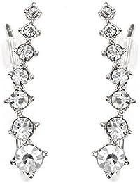 RUVEE Metal Silver Elemental Stars Hook Alloy Cuff Earring for Women