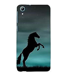 Shadow Jumping Horse 3D Hard Polycarbonate Designer Back Case Cover for HTC Desire 826::HTC Desire 826 Dual Sim::HTC Desire 826 DS (GSM + CDMA)
