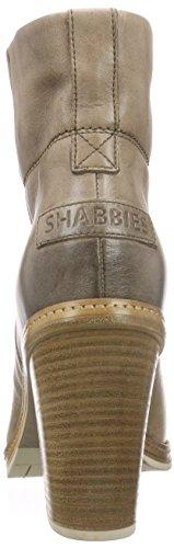 Shabbies Amsterdam New 11cm Booty Stitchwelt Sole Pedula, Bottes courtes avec doublure intérieure femme Gris - Grau (Ash)