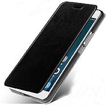 Prevoa ® 丨 HUAWEI Y625 Funda - Flip Funda Cover Case para HUAWEI Y625 5.0 pulgada QUADCORE ANDROID Smartphone - Negro