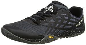 Merrell Men's Glove 4 Trail Running Shoes, Black (Space Black), 9.5 UK (44 EU)