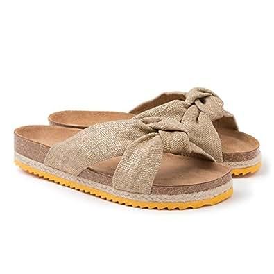 bonne vente de chaussures soldes livraison rapide Paez Bio Foulard Gold Sandales Plateforme Femme