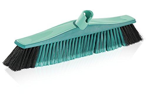 Leifheit Allround Besen Xtra Clean Plus 40 cm mit innovativen X- und Kunststoff-Borsten, Kehrbesen mit schräger Stielanbindung, Besen ohne Stiel - Innen Besen