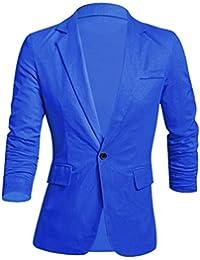 Sourcingmap – ® hombres manga larga con muescas solapa un botón cierre Slim Fit Blazer