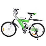 MuGuang Mountain Bike Bambina 20 Pollici 6 velocità Mountain Bike Vieni con Bollitore da 500cc per Bambini dai 7 ai 12 Anni (Verde)