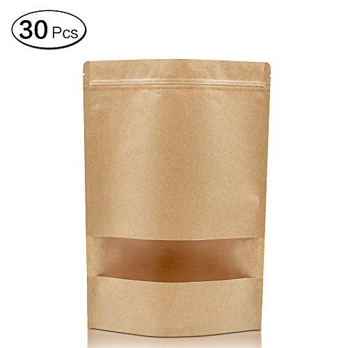 band-Packpapier-Taschen mit Fenster, Dessert-Tasche 18*26*4cm/7.1*10.2*1.6Inch ()