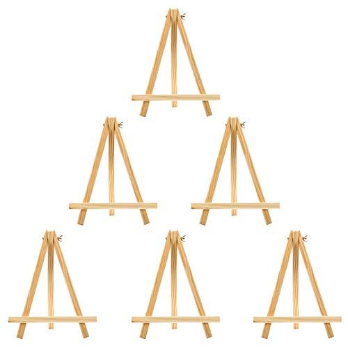 Mini Holz Künstler Staffelei Triangle Craft Hochzeit Stativ Tisch Ständer Display Foto Malen Halter 6–24x 18cm
