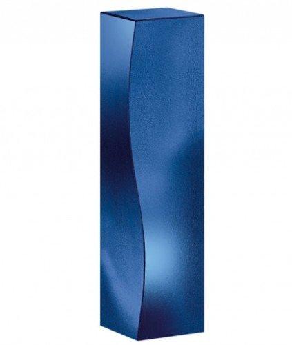 Weinverpackung Weinpräsentkarton Faltschachtel Skulptur blau Weinkarton für 1 Flasche Maße : 78 x 78 x 360 mm VE 50 Stück