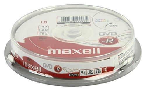 Maxell dvd-r 4.7gb printable - confezione da 10