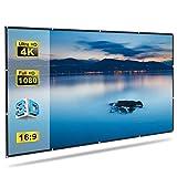 GLIME Écran de Projection 120 pouces 272x155cm 16:9 Écran Vidéoprojecteur Portable...