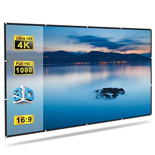 GLIME Projektionswand 120inch 272x155cm 16: 9 Bildschirm Portable Video Projektor Faltbare Film 3D HD TV Für Heimkino Indoor Outdoor
