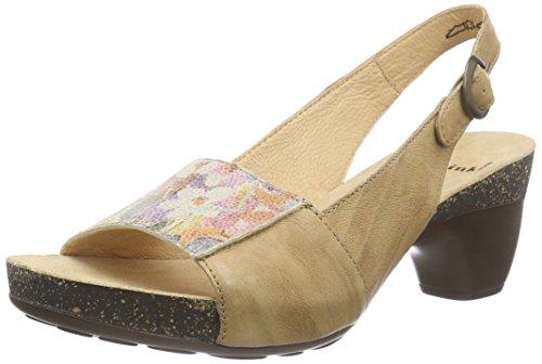 Think!Traudi Sandalen - Sandali con Cinturino alla Caviglia Donna , Marrone (Braun (CAPPUCINO/KOMBI 52)), 41
