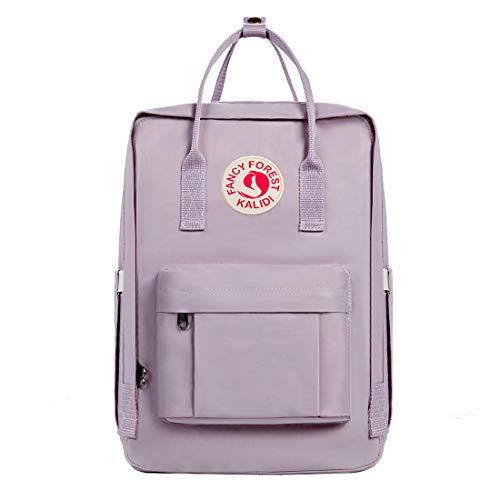 KALIDI Rucksack/Daypack Rucksack Mädchen Jungen & Kinder Damen Herren Schulrucksack mit laptopfach für 15 Zoll Notebook (Lila) (15-zoll-laptop-lila)