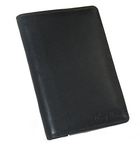 J9030 Große Herren Leder Brieftasche Ausweismappe verschiedene Farben -- präsentiert von RabamtaGO® -- (schwarz) (Herren Brieftasche Schwarze)