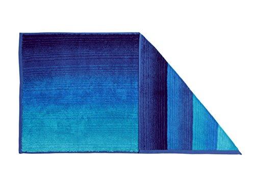 """Bio-Handtuchserie \""""Colori\"""" - erhältlich in 6 brillanten Farbkombinationen und 3 verschiedenen Größen - hochwertig verarbeitet und mit praktischem Kordelaufhänger, Liegetuch 70 x 180 cm, blau"""