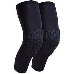 Senston Compresión Almohadilla de Rodillera Proteger Baloncesto - Mejor Rodillera Proteccion para el baloncesto, Fútbol, Voleibol, Ciclismo, Disparo