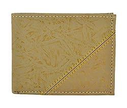 Exotique Mens Tan Faux Leather Wallet (WM0013TN)