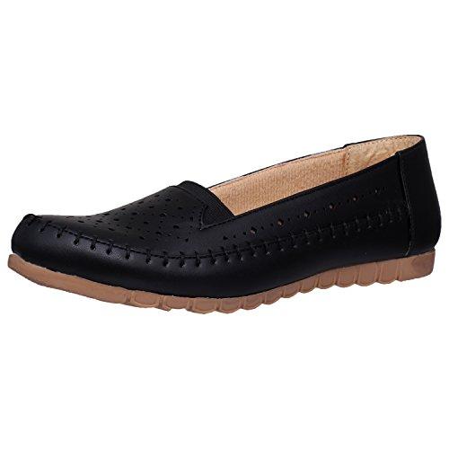 1 WALK Comfortable Women's- Bellies/Loafers/Fancy WEAR/Party WEAR/Original/Casual Footwear-Black
