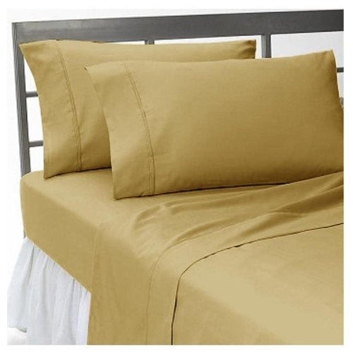 Super Soft and Elegant 2PC Pillow Cover King 100% Egyptian Cotton Solid Taupe by Hothaat