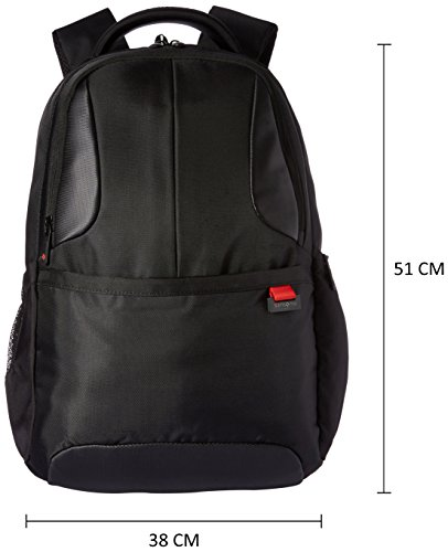 Best samsonite backpack in India 2020 Samsonite Ikonn Polyester 24 Ltrs Black Laptop Backpack (31R (0) 09 001) Image 4