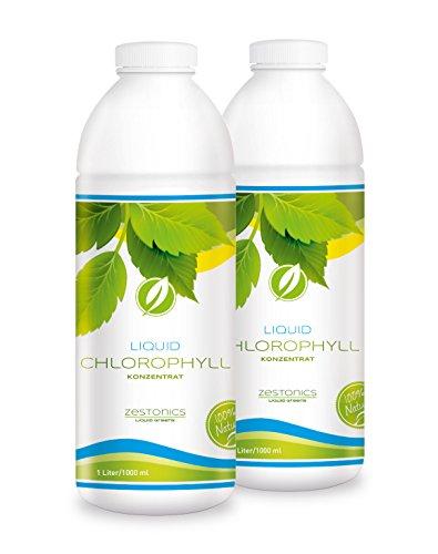 2x Liquid Chlorophyll Konzentrat aus Alfalfa mit Minzegeschmack - Monatsvorrat - 2 Liter flüssiges Chlorophyll - Konzentrat - Made in Germany