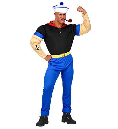 widmann srl-grp02561vd disfraz Super marinero de hombre para Adultos, Multicolor, pequeño, grp02561vd