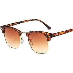 Amcool Sonnenbrillen Mirrored Vintage Retro Cool Metallrahmen Spiegel Spot Sonnenbrille (H)
