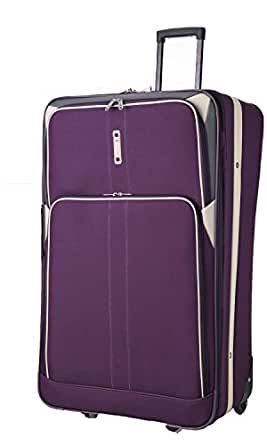 Cities® Large 26 Inch Lightweight Expandable Luggage Suitcase Bag (Plum/Grey)