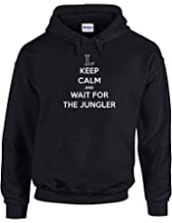 Keep Calm and Wait For The Jungler , Gedruckt Hoody - Pullover