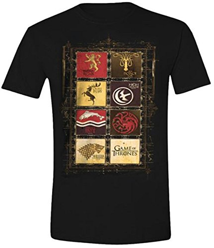 Game of Thrones Family Sigils - Camiseta manga corta para hombre, colo