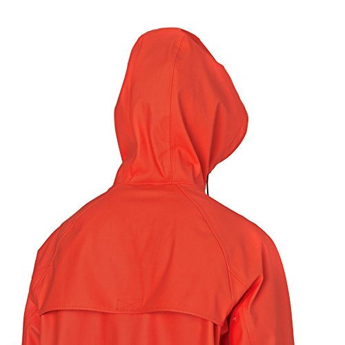 Converse Homme Rubber Fishtail Rain Jacket, Rouge Rouge