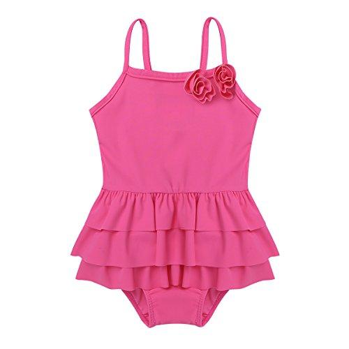 YiZYiF Baby Mädchen Einteiler Badeanzug Bikini Tankini Bademode Kleinkind Schwimmanzug Sommer Urlaub Swimwuit Strandmode Gr.50-98 Rosa Rot 50-68