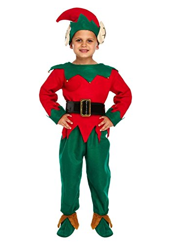 Kostüm Dress Xmas Up - Islander Childs Fashions ELF Weihnachten Spielen Kinder Xmas Dress Up Krippe Pantomime Partykleid Elf 7-9 Jahre (Medium)