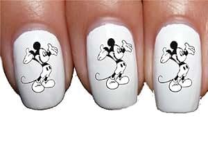Sassy-Nailz Mickey Mouse FBN Nail Art Transfer Decal Wrap For False Acrylic Gel or Natural Nails