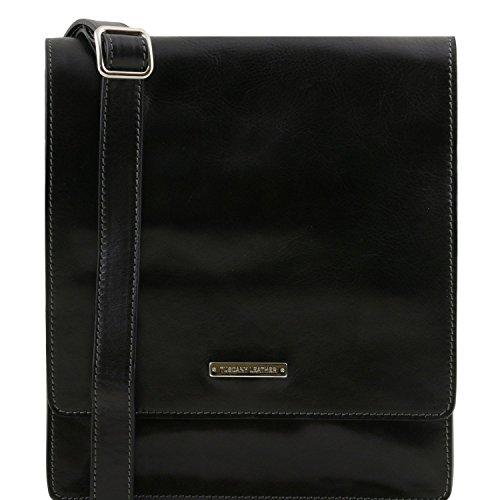 Tuscany Leather TL Messenger - Sac bandoulière en cuir 1 compartiment - TL141447 (Miel) Noir