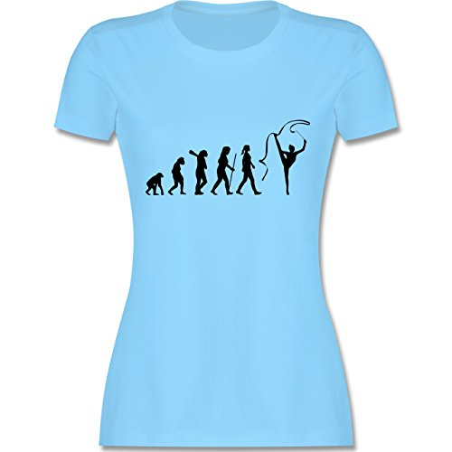 Evolution - Rhythmische Sportgymnastik Evolution - tailliertes Premium T-Shirt mit Rundhalsausschnitt für Damen Hellblau