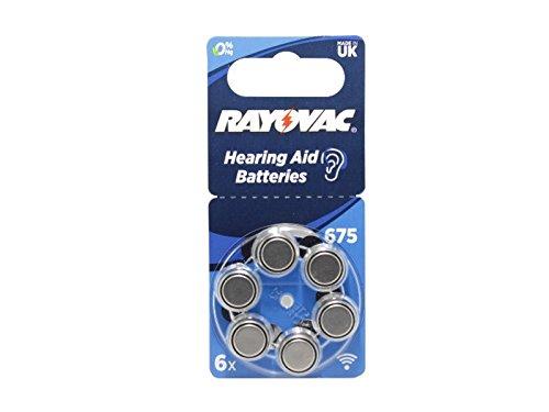 A675 Batterie kompatibel Sky Baseo Q-UP Naída V-UP Hörverstärker Hörgerät 1,45V