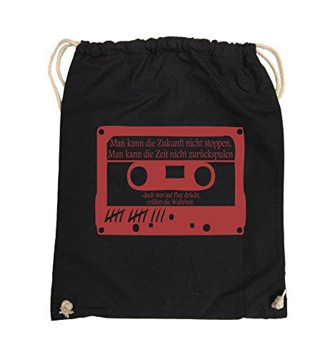 Borse Da Commedia - Le Ragazze Morte Non Mentono - Cassetta - Borsa Girevole - 37x46cm - Colore: Nero / Rosa Nero / Rosso