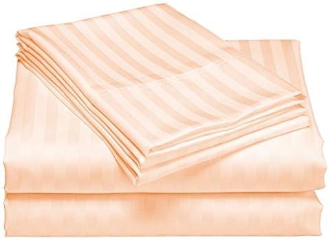 scalabedding Tasche Tiefe 100% ägyptische Baumwolle 500TC 76,2cm Blatt 2Stück–Fischerei gestreift