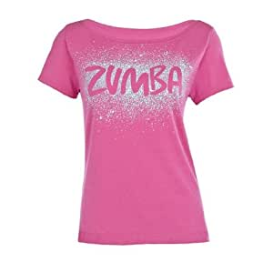 zumba fitness cosmic top women 39 s t shirt berry size m l. Black Bedroom Furniture Sets. Home Design Ideas