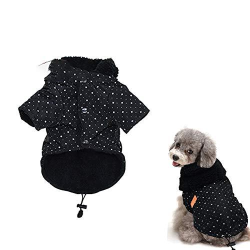 mxdmai 1 STÜCK Hund Wintermantel Warme Haustier Bekleidung Dicke Jacke Kapuzen Pullover für Kleine Mittelgroße Hunde mit Pelzkragen (L) (1 Kapuzen-jacke)