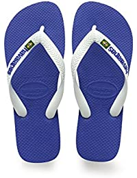 Havaianas Unisex-Kinder Brasil Logo Zehentrenner, Blau (Brasil Logo Marine Blue), 27/28 EU (25/26 Brazilian)