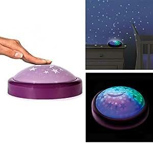 Lampe Veilleuse Push Enfant Bébé - Change de couleur, Nuit étoilées - Violet