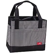 Pranzo al sacco Familizo Sacco per il Isolata portatile Pranzo termica Carry Tote Bagagli di Viaggio Picnic Bag (Nero) - Giardino Strumenti Carry Bag
