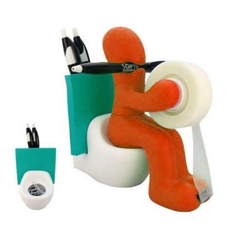 Die Butt Office Supply Station Schreibtisch-Zubehör-Halter Orange -
