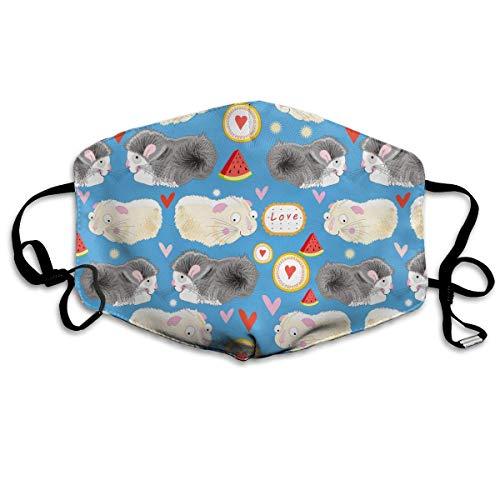 (SDGSS Mund Maske,Hamster Watermelon Warm Unisex Fashion Warm Anti-Dust Washable Reusable Mund Maske)
