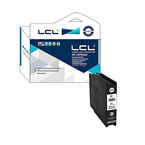 LCL T7551 T7541 T7561 (1-Pack Noir) Cartouche d'encre Compatible pour Epson Workforce Pro WF-8090DW/8090DWF/8510DWF/8010DW