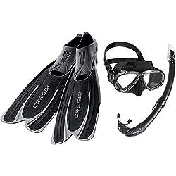 Cressi Agua - Palme de Plongée + Perla Mare - Kits de Randonnée Aquatique Masque et Tuba Adulte Plongée Snorkeling