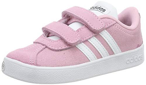 adidas Unisex-Kinder VL Court 2.0 Fitnessschuhe, Mehrfarbig (Rosaut/Ftwbla/Grisei 000), 26.5 EU